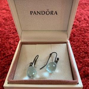 Beautiful pandora teardrop earrings.